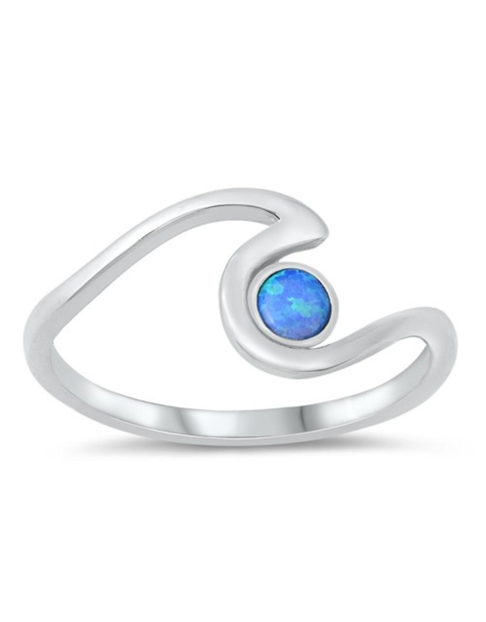 Opal Dot Wave Ring