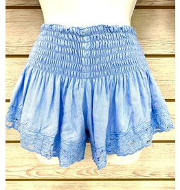 Periwinkle Embroidered Shorts