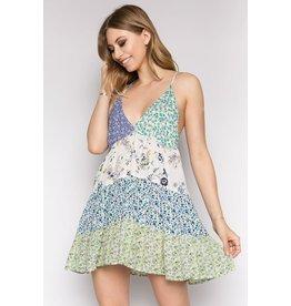 Ivory Patchwork Dress