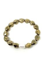 Gold Abstract Hematite & FWP Bracelet
