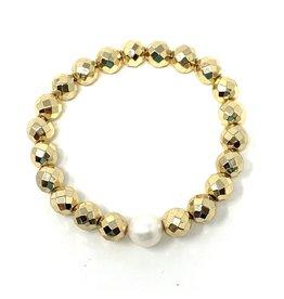 SM Gold Hematite & FWP Bracelet