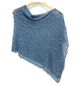 Popcorn Poncho Dark Denim