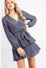 Glam Navy Katie Speck Dress