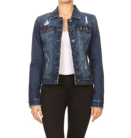 En Jean Dark Emily Denim Jacket