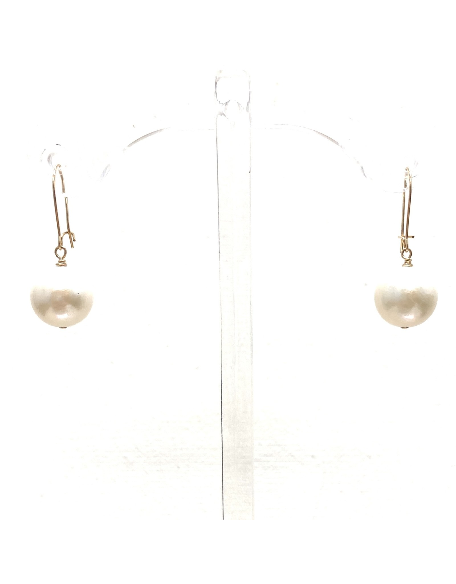 Gold Filled Baroque SM. Drop Earrings