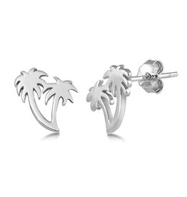 Silver Palm Tree Stud Earring