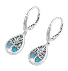 SM Opal Tree of Life Earrings SI