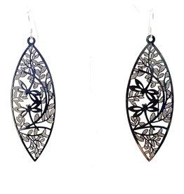 Silver Filigree Marquee Earrings