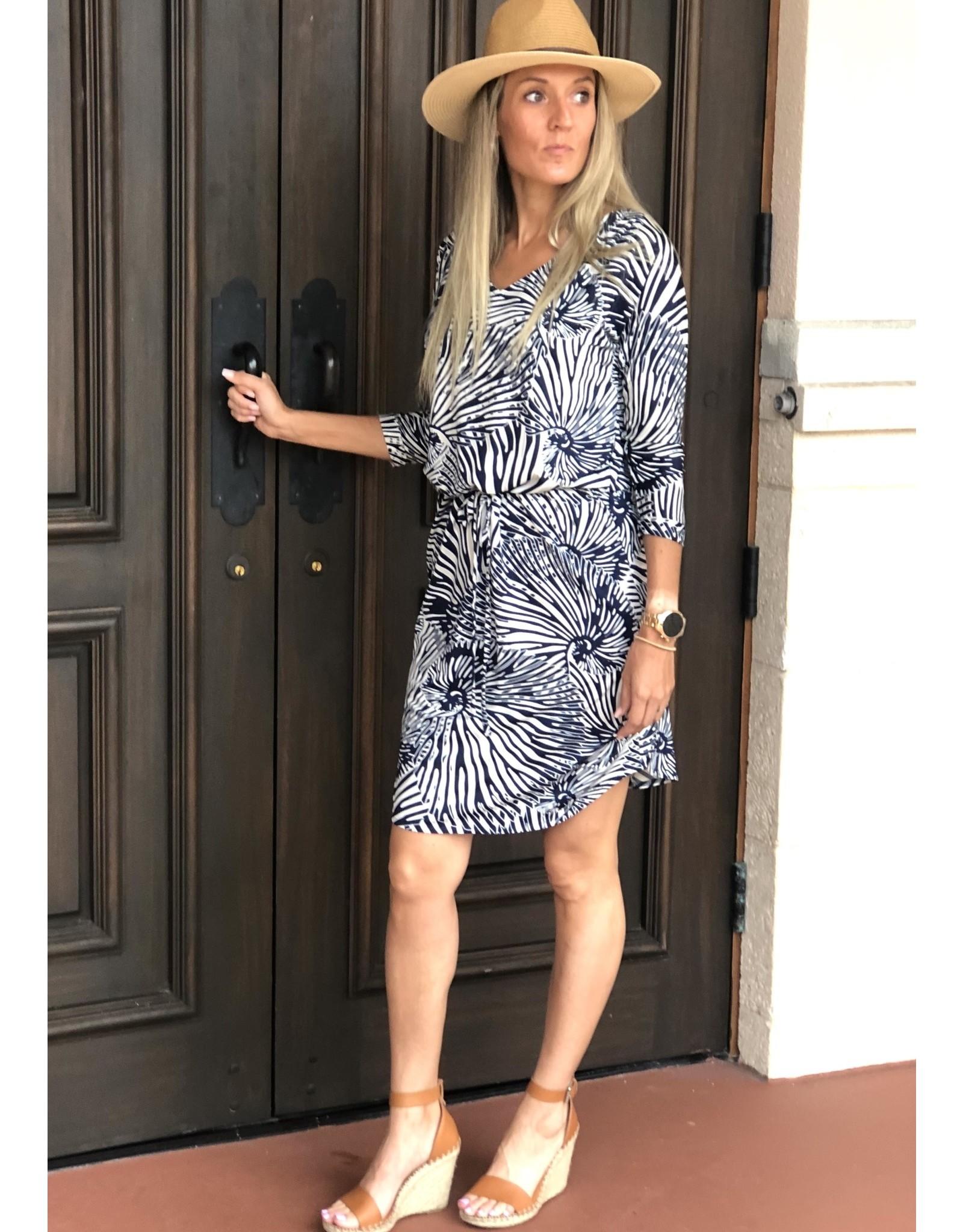 La Mer Lux Navy Shell Mia Dress
