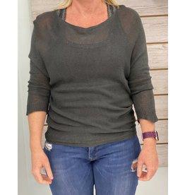 Charcoal Peek-A-Boo Sweater