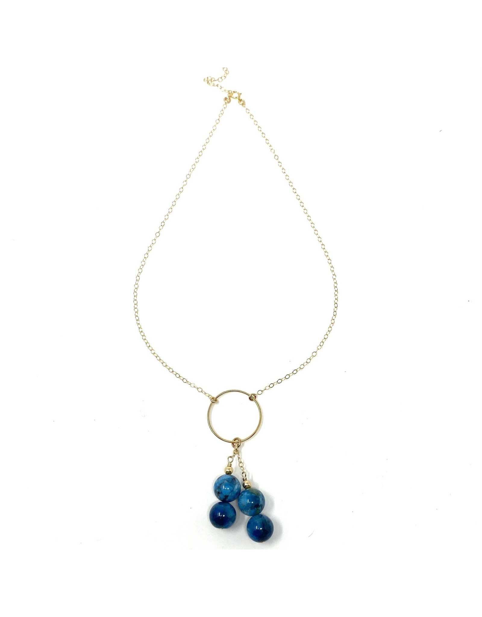 Gold Filled Apatite Drop Necklace