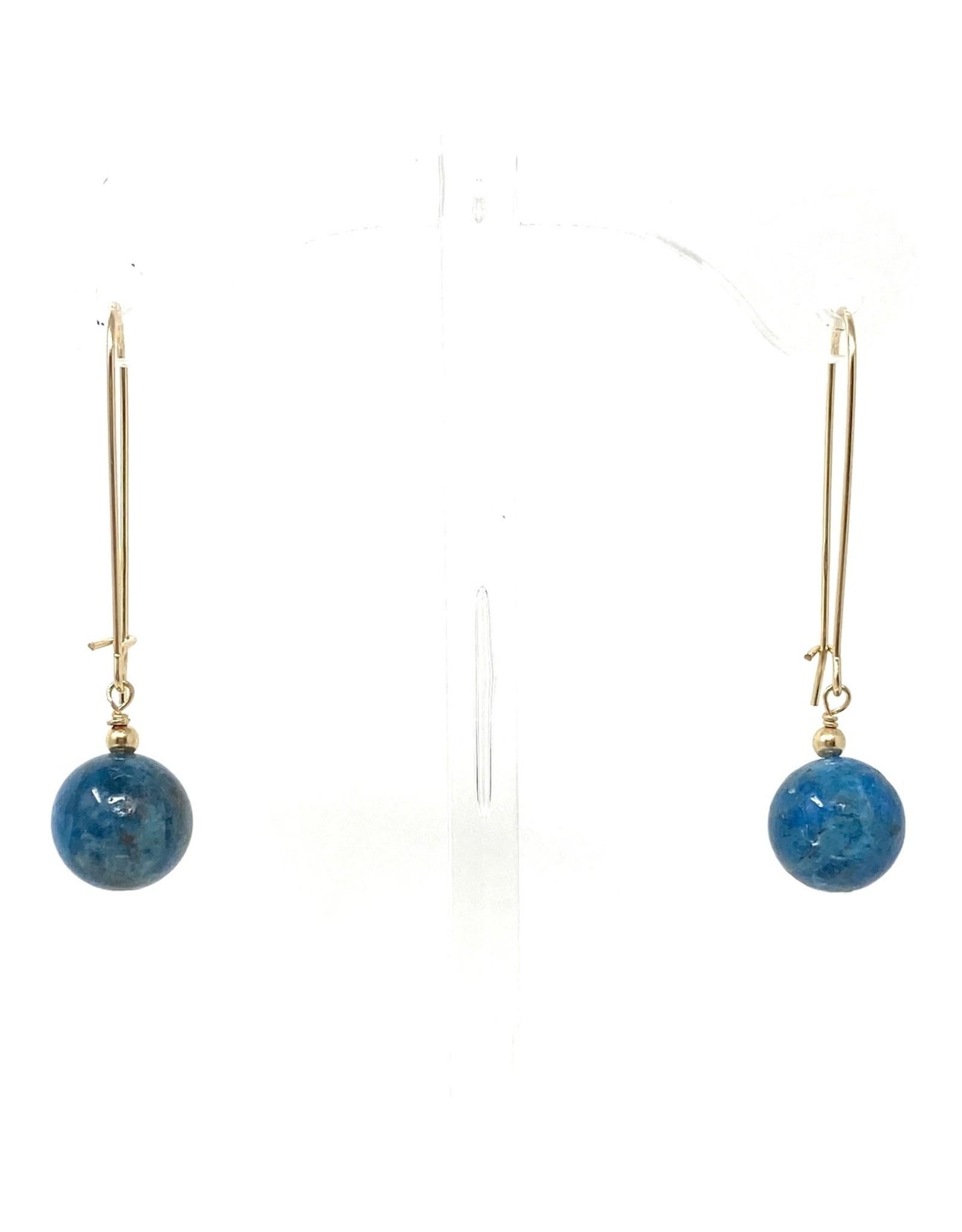 Gold Filled Apatite Drop Earrings