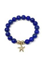 Lapis & CZ Vermil Starfish Bracelet