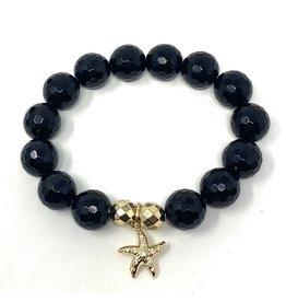 Onyx & CZ Vermil Starfish Bracelet