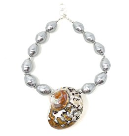 Tiger Chamber & Silver Shell Pearl