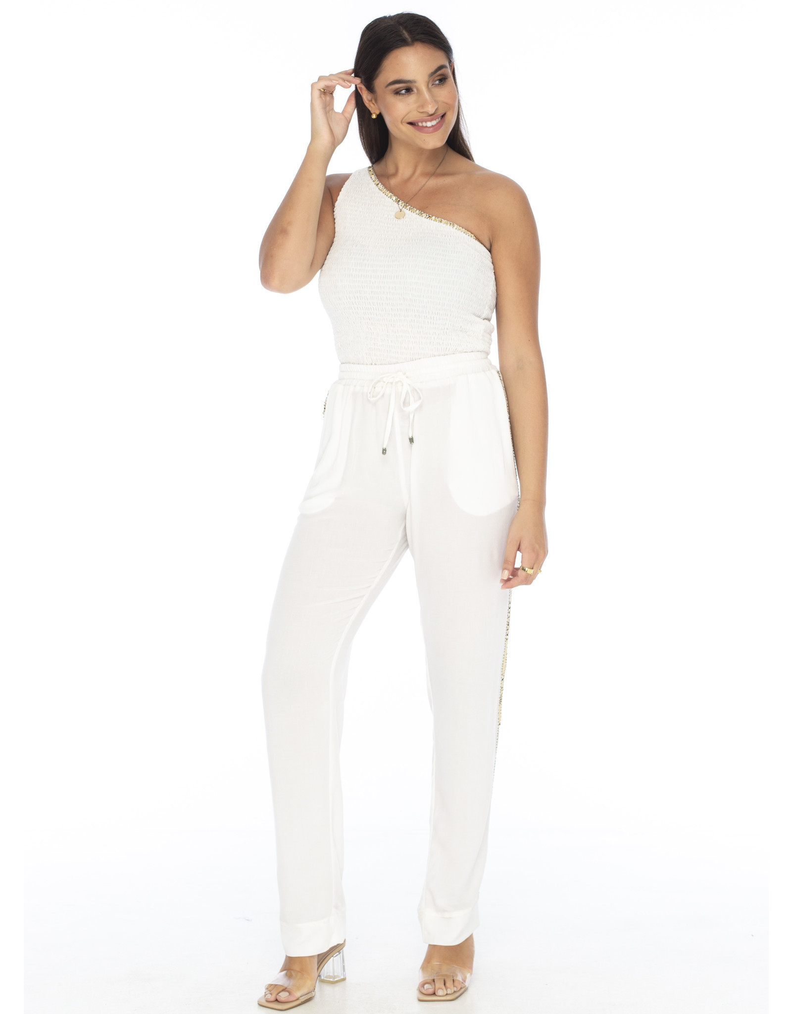 Skemo White Eve Crop Top