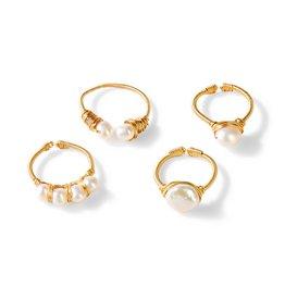 Adj. Pearl Ring