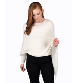 Alashan White Cashmere Pearl Topper