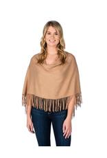 Alashan Camel Trade Wind Cotton Cashmere Fringe Topper
