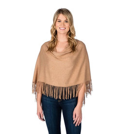 Alashan Camel Trade Wind Cotton Cashmere Fringe Topper