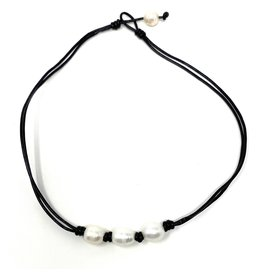 Triple FWP Leather Necklace