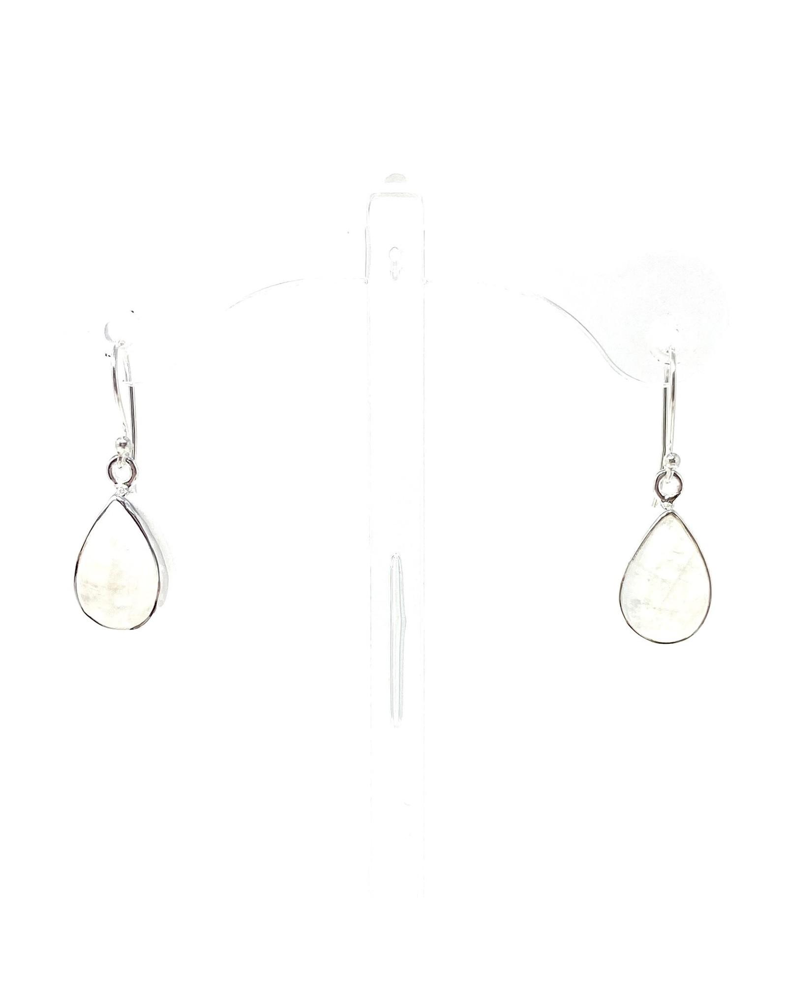 India Gems Moonstone Teardrop Earrings