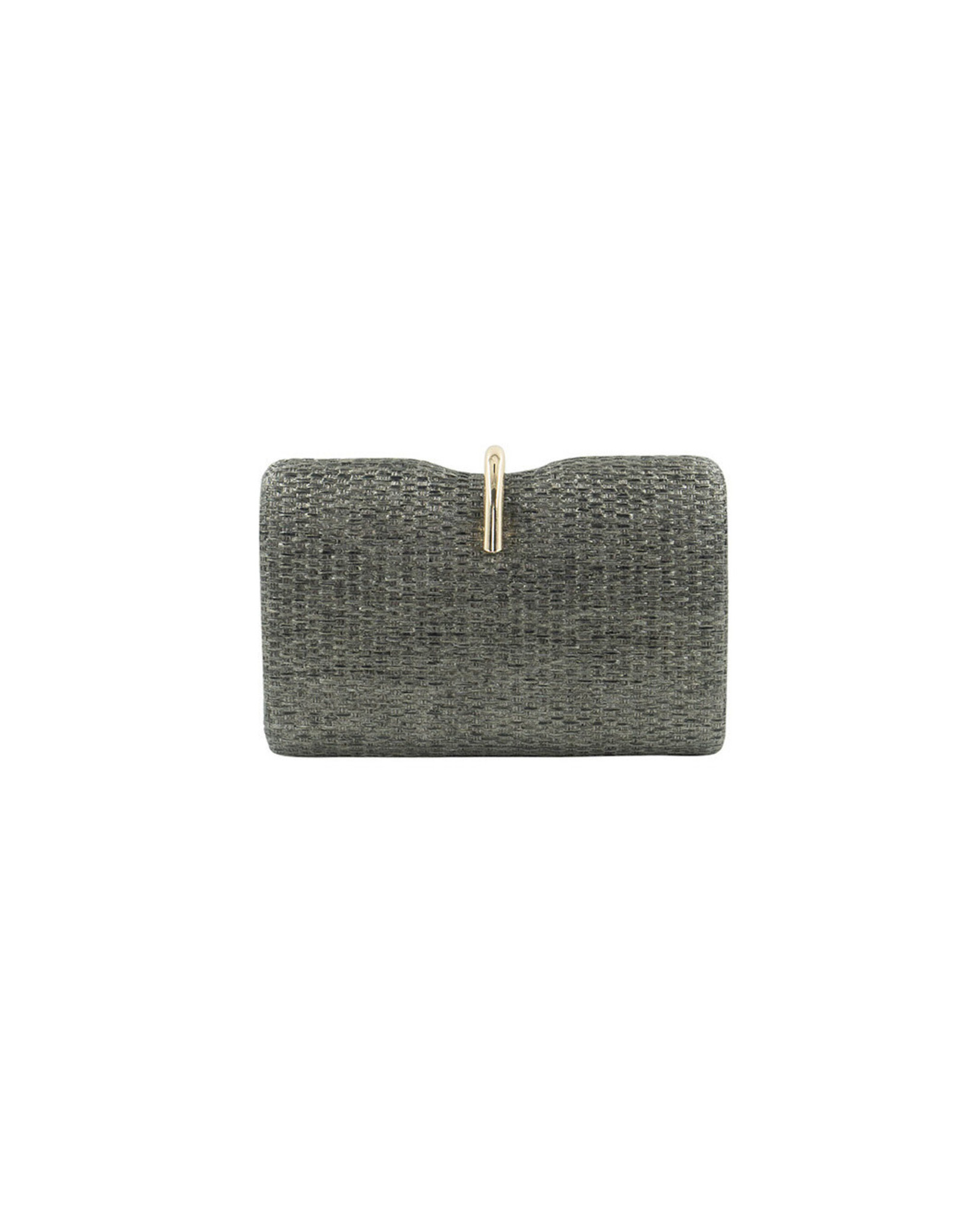 Pewter Jackie Woven Clutch