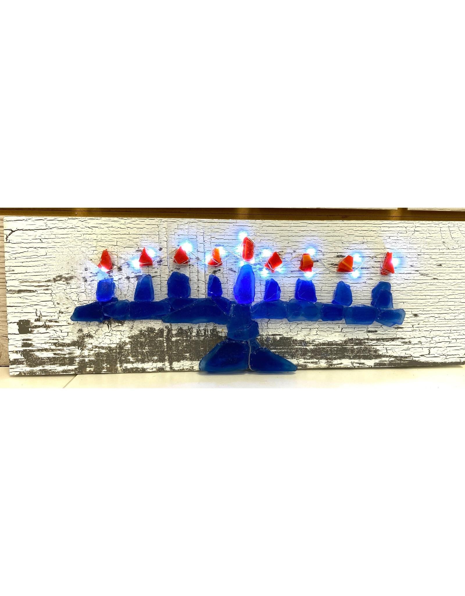 Salty SIgnd Designs Sea Glass Menorah