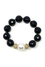 Onyz, Gold CZ & Large FWP Bracelet