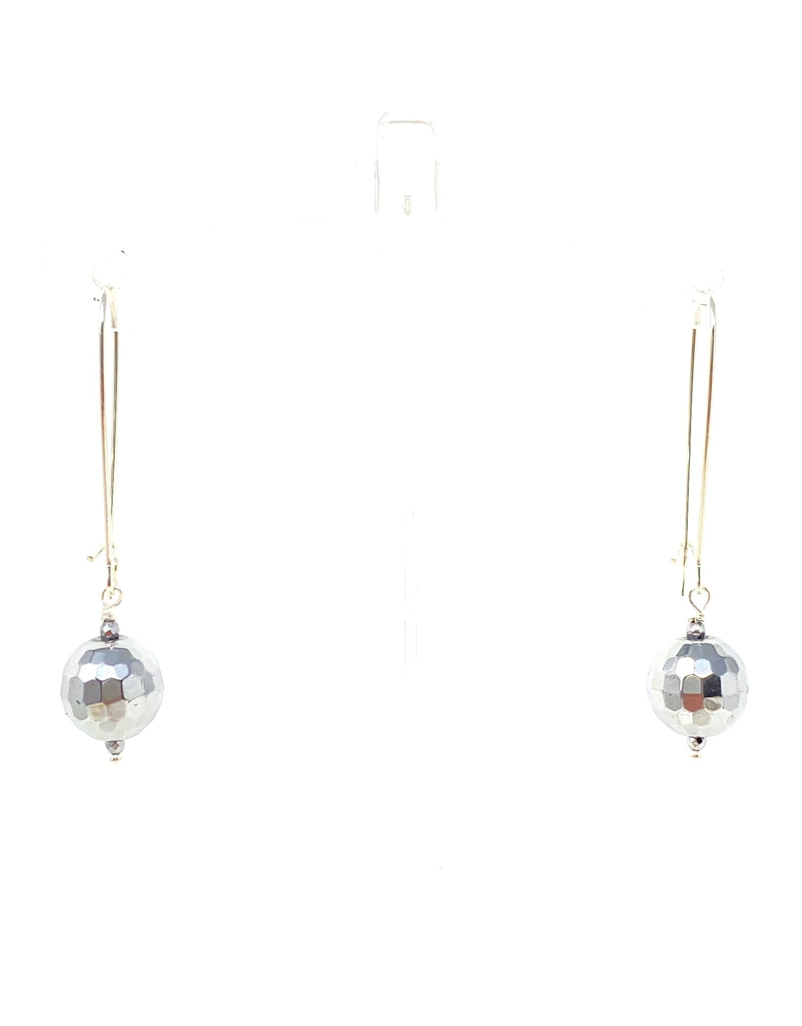 LG Silver Hematite Drop Earrings