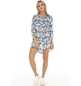 Skemo Indigo Camo Shirt Dress