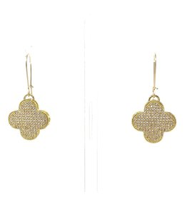 CZ Vermil Clover Earrings