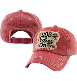 KB Ethos Dog Vibes Only Pink Cap