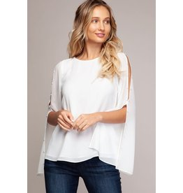 Off White Pearl Quincy Blouse