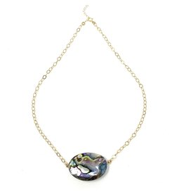 Med. Abalone on Lg Gold Filled Chain