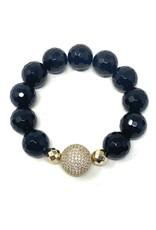 Onyx & Vermil CZ Ball Bracelet