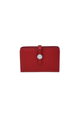 Red Jackie Leather Wallet