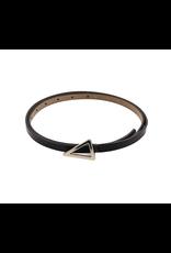 Black Leather Essie Belt