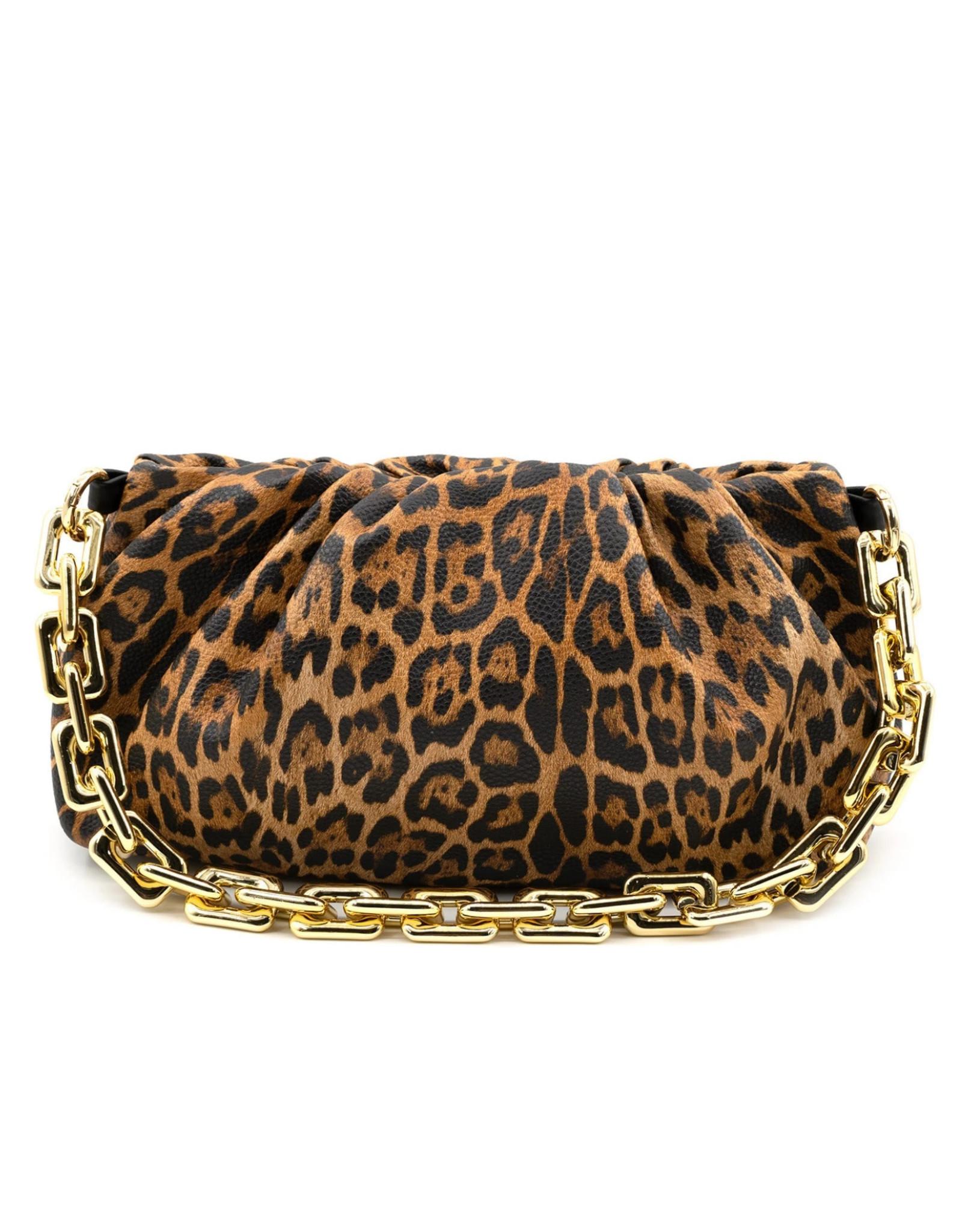 Valerie Leopard Clutch