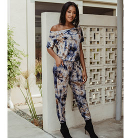 Veronica M Blueberry Tie Dye Jumpsuit