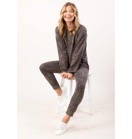 Charcoal Leopard Loungewear