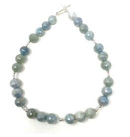 Electroplated Aquamarine Necklace