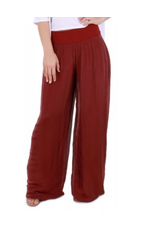 Red Silk Lined Pants