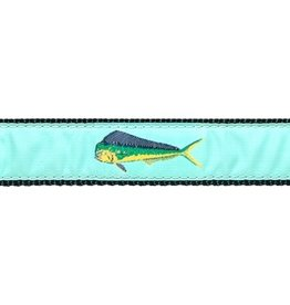 Preston Ribbons Green Mahi Dog Collar