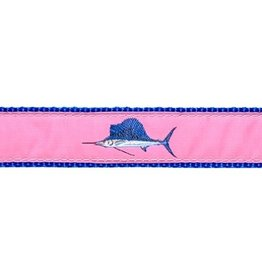 Preston Ribbons Pink Sailfish Dog Collar