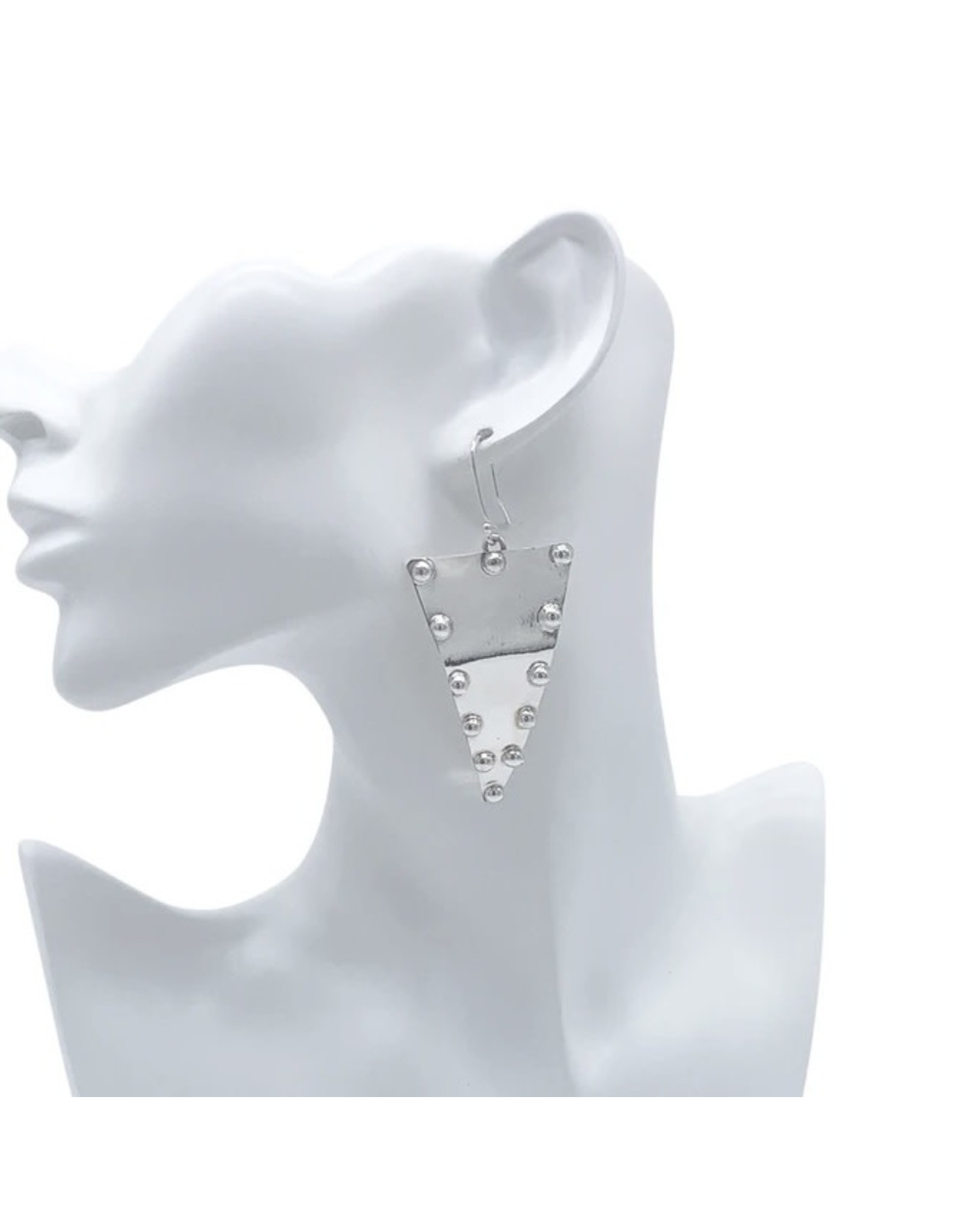 Balaam Sterling Studded Triangle Earrings
