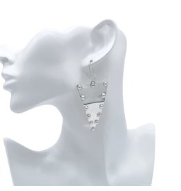 Balaam Sterling Studded Triangle Earrings