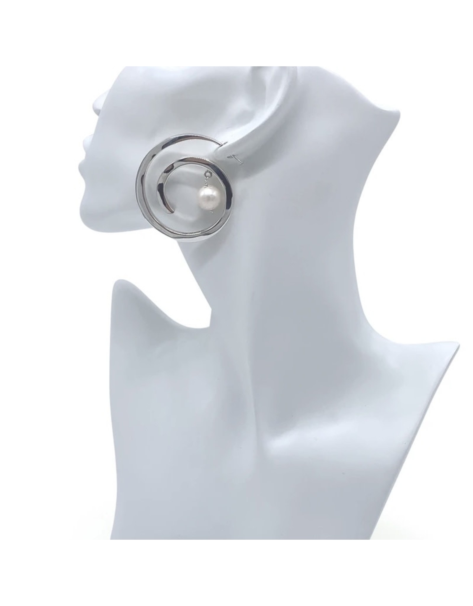 Balaam XL Pearl Coil Earrings