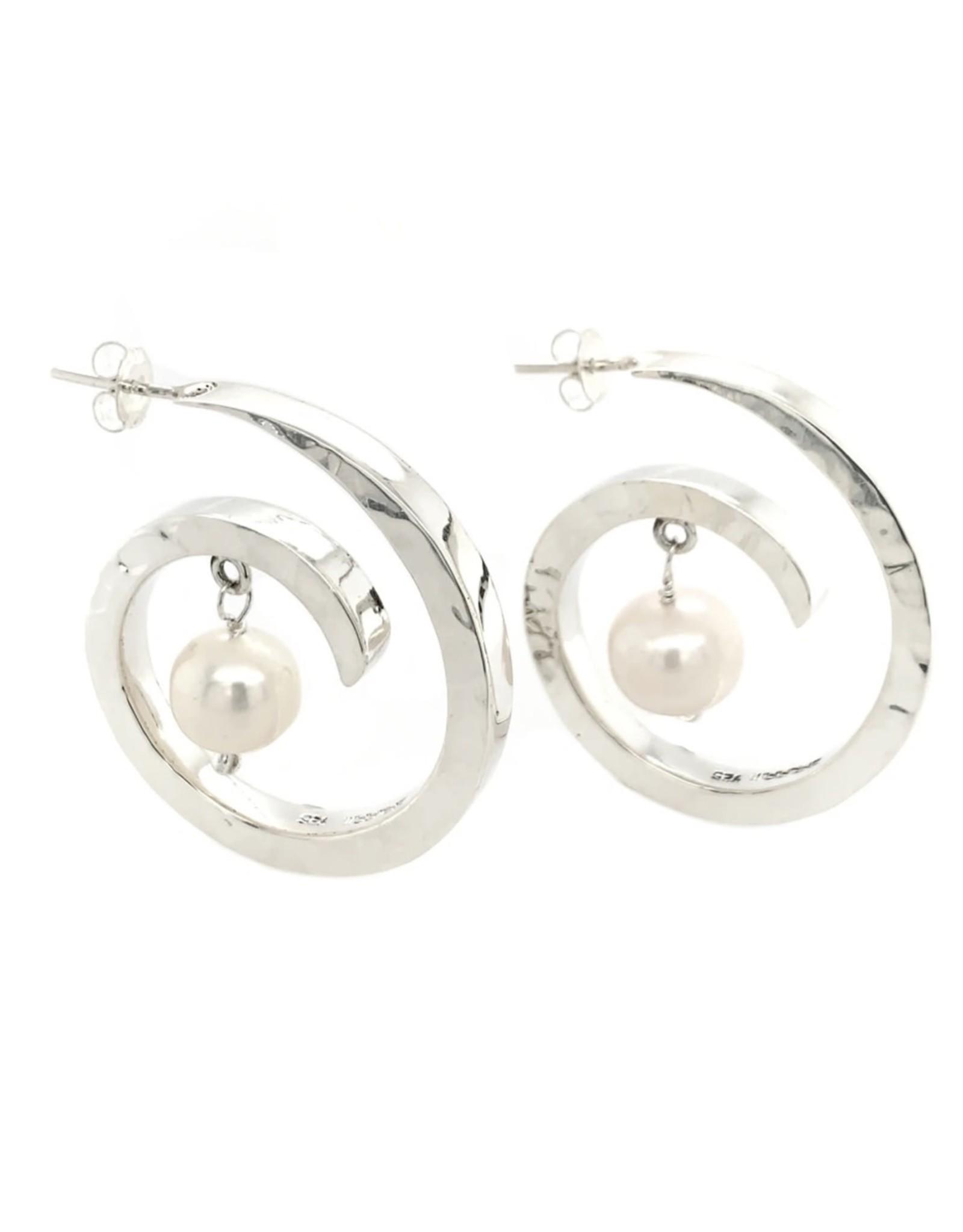Balaam Small Pearl Coil Earrings