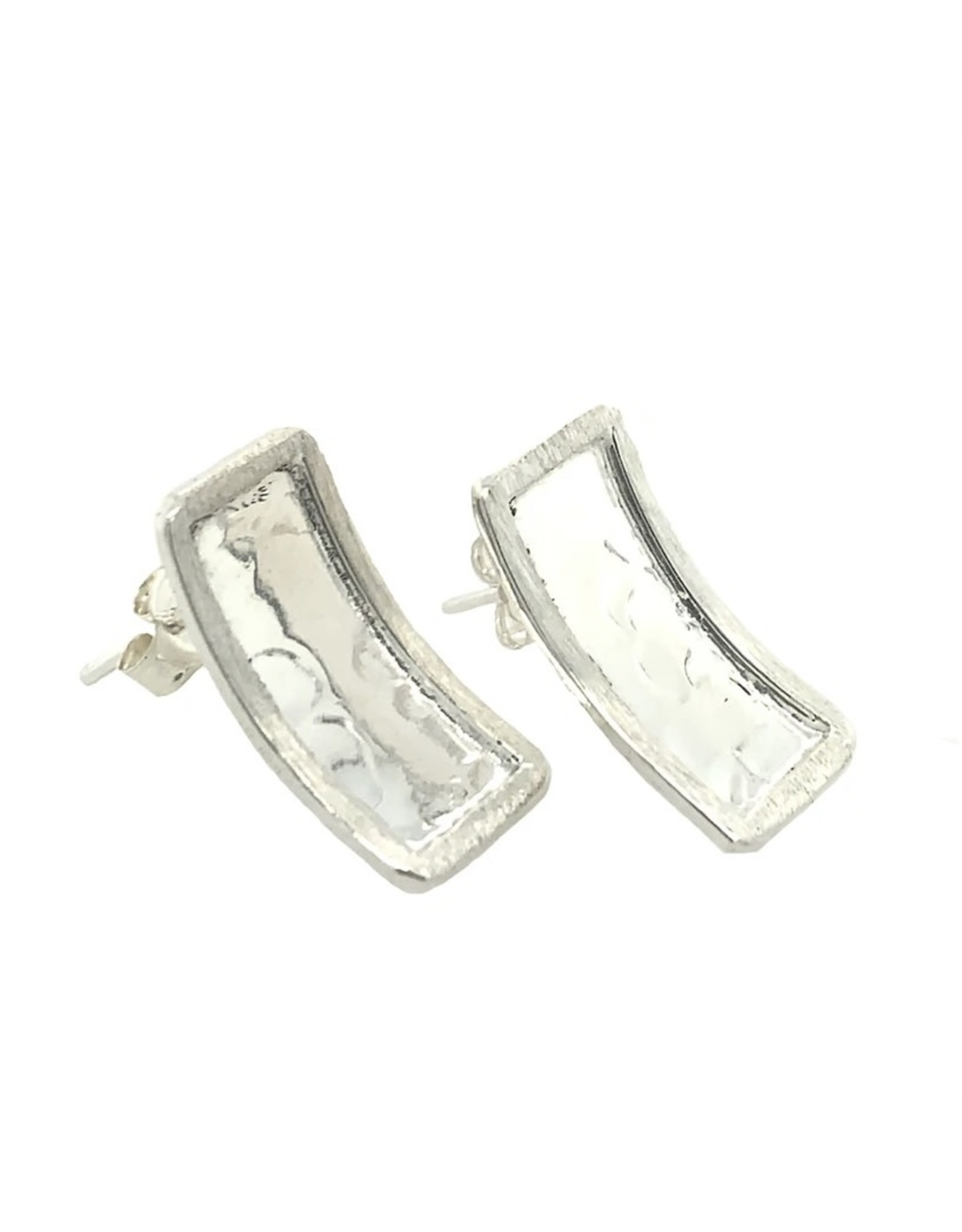 Balaam Sterling Hammered Rectangle Studs